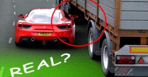 Kiderült, hogy hamis a rendőrségi üldözés alatt egy kamion alatt átbújó Ferrariról készült felvétel