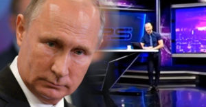 A grúz tévé műsorvezetője élő adásban, durván szidalmazta Putyint, az adó néhány órára meg is szakította adását