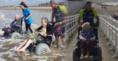 Az önkéntesek levitték a nyugdíjas otthon lakóit tengerpartra. A fotókon látható örömnél nem is kell jobb visszajelzés