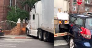 Ebben a szűk kis utcában próbált megfordulni a kamionsofőr