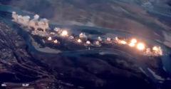 Harminchat tonna bombát dobtak le az Iszlám Állam egy iraki szigetére. Nyilvánosságra hozták a támadást rögzítő videót