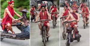 Elképesztő robogókat faragnak fából az egyik Fülöp-szigeteki törzs tagjai