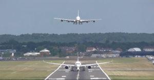 Pontos számítás a repülőtéren. Felszállás és leszállás ugyanazon a pályán rögtön egymás után