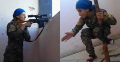 Csak néhány centiméter választotta el a haláltól. A kurd mesterlövész csajnak a füle mellett fütyültek a golyók