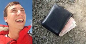 A férfi egy iratok nélküli pénztárcát talált. Zseniális módot választott, hogy visszajuttassa a tulajdonoshoz