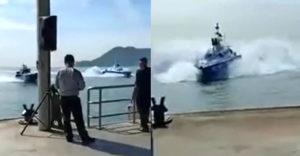 A rendőrség bemutatja az új járőrhajóit. Félelmetesen manővereznek velük