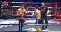 Dupla KO-val nyerte meg a meccsét a thai bokszos. Kiütötte az ellenfelét és a bírót is