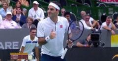 Egy szurkoló arra kérte Federert, hogy ne mozogjon. Jó fotót akart készíteni