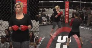 A háromgyerekes anyuka MMA harcos akart lenni. Már a 3. mérkőzésén K.O.-val kiütötték