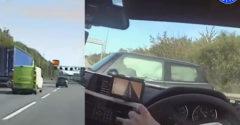 Az autópályán 200 km/h sebességnél lezajlott üldözés után példaszerű manőverrel állították meg a rendőrök