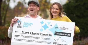 Egy szlovák nő és angol férje nyerték meg a brit Euromillions szerencsejáték jackpotját