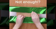 Nem elég a csomagolópapír? Használd ezt az egyszerű trükköt