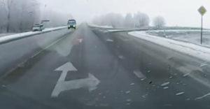 Fura baleset a járőr előtt
