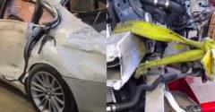 A karosszérialakatos mester új autóvá varázsolta a totálkáros BMW 7-est