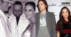 11 híresség az esküvője napján és a válása napján!