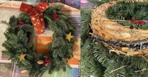 Szokatlan dolog a karácsonyi ajtódíszben: Miután elkezdett bűzleni, inkább szétszedték azt