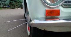 Miért jelent meg néhány régi autón ún. bajusz?