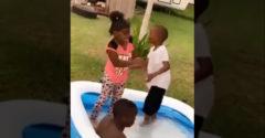 A kisfiú szeretetből veri a kislányt, aki ezt nem tudta (Megvédte magát)