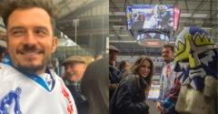 Orlando Bloom egy hokimeccsen bukkant fel a csehországi Kladnóban