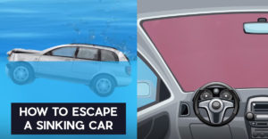 Hogyan tudsz kimenekülni egy süllyedő autóból?