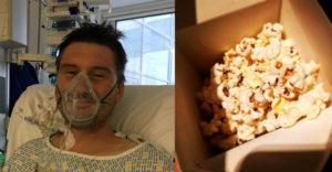 Kis híján egy fogai közé szorult popcorn végzett Adammel az életerős tűzoltóval