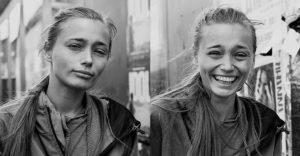 10 portré emberekről, mielőtt és miután megcsókolta őket a fotós