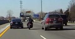 Azt hitte a motoros, hogy csak az övé az egész autópálya (Balesetet okozott)