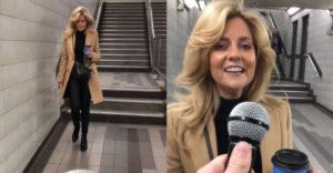 Fogd a mikrofont és folytasd a dalt! Alapos meglepetést okozott a metró aluljáróban a közelben elhaladó nő.