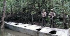 A kolumbiai hadsereg nemrégiben lefoglalt egy drogcsempészésre épített tengeralattjárót