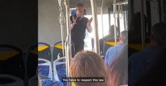 Az utasoknak elmagyarázta a portugál törvényt, amit a túléléshez be kell tartaniuk. Akinek nem tetszik, ott az ajtó