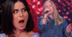 Alaposan meglepte a fiatal 14 éves énekesnő hangja a zsűri tagjait. Tátott szájjal nézték a lány fellépését