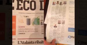 Gyászjelentések egy olasz újságban a koronavírus járvány kitörése lőtt és után. (Óriási különbség)