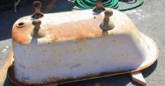 Levágta az öreg rozsdás vaskád szélét, a munkája eredménye sok embert megörvendeztet