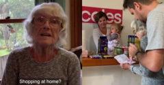 Otthoni szupermarketet rakott össze, hogy 87 éves édesanyja vásárolgathasson.