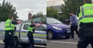 Egy késsel hadonászó férfit próbáltak lefegyverezni a rendőrök (Elgázolták egy autóval)