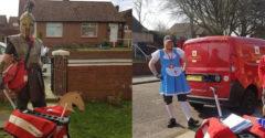 Minden nap más jelmezben kézbesít egy brit postás, hogy feldobja a hangulatot