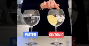 Tiszta víz vs. gin tonic (Zenélés a poharakkal)