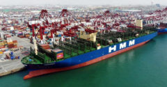 Elindult első útjára a világ legnagyobb konténerszállító hajója