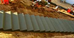Egy masszív beton lépcső építés folyamata (Tökéletes munka)