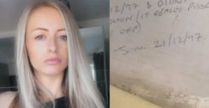 A fiatal nő a tapétája alatt egy üzenetre bukkant, ami csaknem 20 évig várakozott rá.