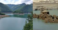 Olaszországban leeresztenek egy tavat, hogy a turistáknak megmutassanak egy középkori falut. Már 1947-től víz alatt van