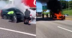 Életét kockáztatva húzta ki a sofőrt az égő autójából egy férfi. (Az év hőse)