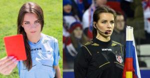 Karolina Bojar, a világ legvonzóbb futballbírója.
