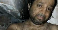 A férfi 10 órán át várakozott a romok alatt. Közzétette a videó felvételeket, amiket készített.