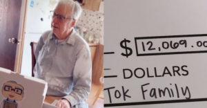 Közel 4 millió forintot gyűjtött egy házaspár kedvenc, 89 éves pizzafutárjának