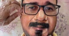 Egy brazíliai művész úgy alkotja meg arcmaszkjait, hogy azok egybeolvadjanak a viselőik arcával.