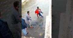 Egy pillanatig sem habozott és megmentette a fuldokló embert (Portugália)