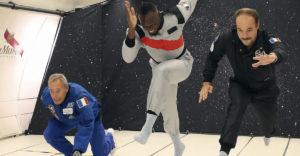 Usain Bolt még nulla gravitációs térben is megnyeri a sprintet.