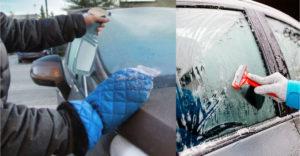 Gyors, egyszerű és olcsó módszer a befagyott autóablakok jégtelenítésére
