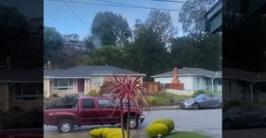 Egy ház és annak minden ablakából más-más időjárási jelenség látható.